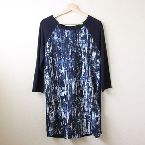 Banana Republic • Navy Abstract Print Dress